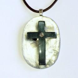 Orgone anheng hematitt kors